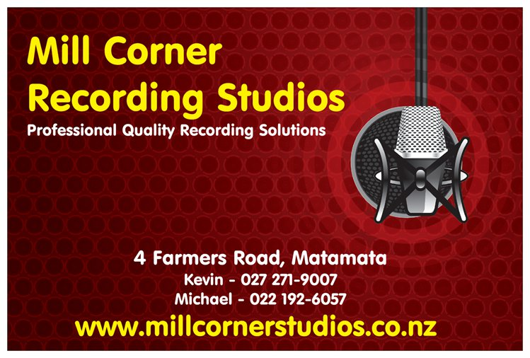 Mill Corner Recording Studios – Sign copy
