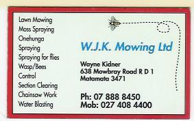 WJK Mowing Card